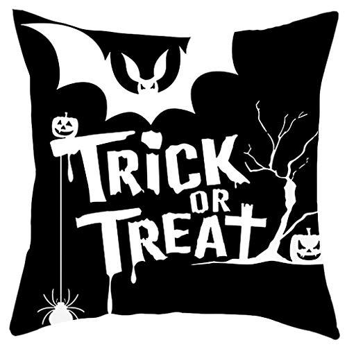 Kostüm Der Bauchtänzerin Bilder - Smonke Fashion Kissenbezug, Halloween Ghost Witch Kürbis 45cm x 45cm Kissenbezug Skull Square Pillow Case Decor
