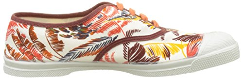 Bensimon Damen Tennis Lacet Pencil Flowers Flach Orange (Orange)