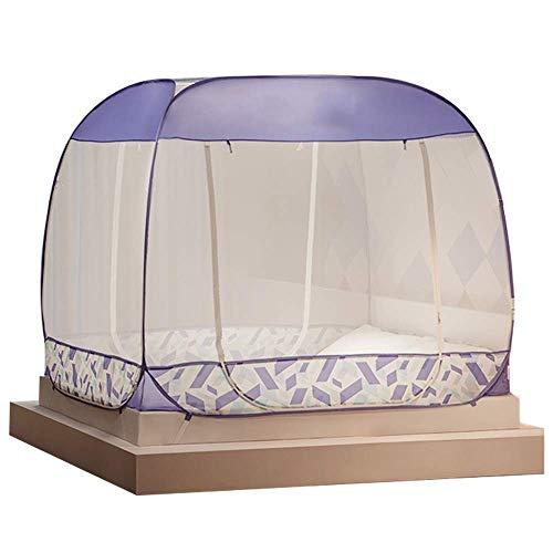 TYUIO Pop Up Moskitonetz für Zuhause & Reisen Camping Zelt Stand Up Baldachin Große Netze ohne Boden für Queen Size Bett (größe : 192 * 120 * 145cm)