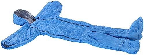 Semptec Urban Survival Technology Schlafsack Anzug: Schlafsack für Erwachsene mit Armen & Beinen, Größe XL, 205 cm, blau (Winterschlafsack)