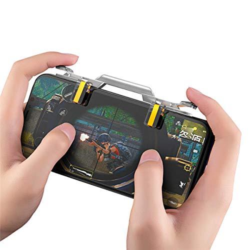 K8U154 @FATO Rock Transparent Gamepad Game Controller Joysticks Game Trigger Fire Button for Mobile Phone Tablet