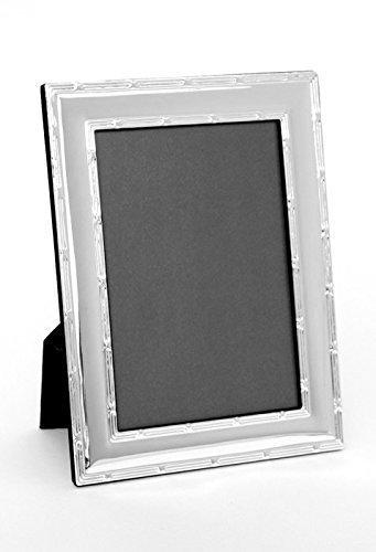 Bilderrahmen Fotorahmen 13 x 18 Silber Muster Rahmen Foto 13x18 cm Bild + Brillibrum® Flyper Geburtstag Geschenke Geschenkidee (Bilderrahmen ohne Gravur)