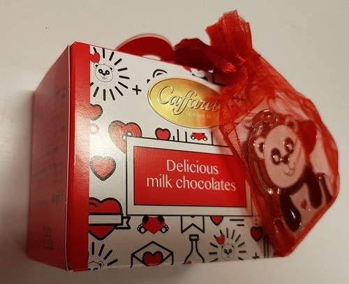Confezione caffarel cioccolatini al latte gusto caramello con portachiavi panda regalo san valentino 40 gr