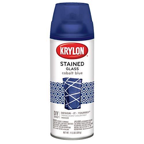 Krylon Pintura de Cristal Tintado, 325 ML, Color Azul Cobalto
