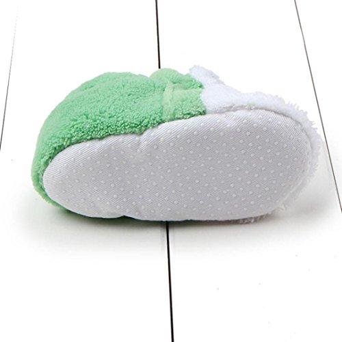 Baby Prewalker Krippe Mädchen 0 Sohle Jungen ~ Tier design Schuhe Babyschuhe Baumwolle Winterschuhe Green Longra Krabbelschuhe 8 Monate Kleinkind Weiche Lauflernschuhe g5qwWfz