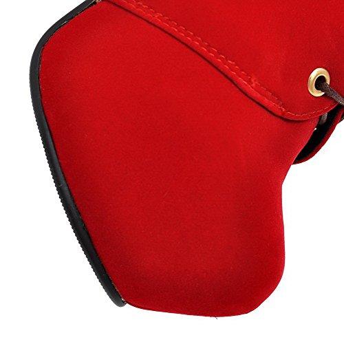 Talon Rouge avec Boucle VogueZone009 Lacet Haut Femme Mosaïque Bottes Rond à wfFqtRfv