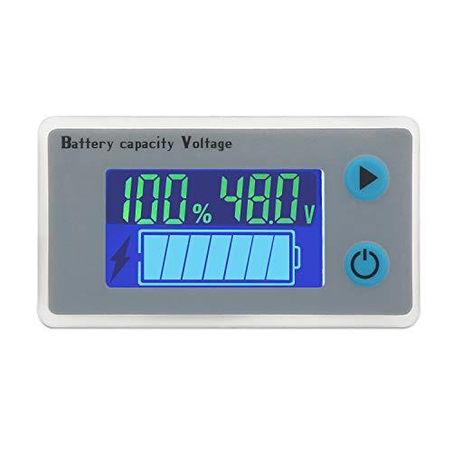 Droking 48 V Batteria al piombo Indicatore di elettricità Misuratore di tensione Temperatura Indicatore di carburante Tester Voltmetro Monitor Display digitale per veicolo auto