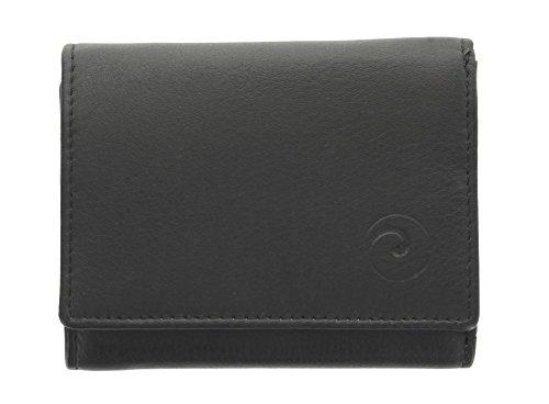 Portafoglio compatto Mala Leather. Collezione ORIGIN con protezione RFID 3273_5 Porpora Nero