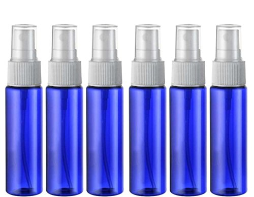 6Unzen 30ml/blau Kunststoff Flasche mit Schwarz/Transparent/Weiß fein Mist Spritzen ätherisches Öl Parfüm Behälter für Gebrauch Zuhause und auf Reisen (4-unzen-sprühflasche)