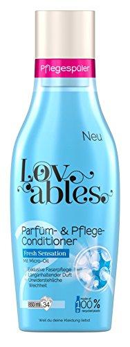 Lovables Fresh Sensation Parfüm- und Pflege-Conditioner, Weichspüler, mit Micro-Oil, 5er Pack (5x 850 ml)
