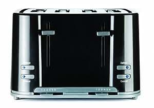 Prestige Toaster Grille Pain 4 Tranches - Noir [prise UK]