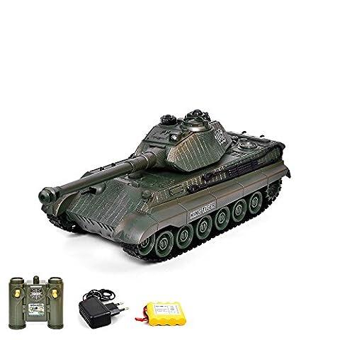 German roi Tiger King Tiger RC ferngesteuerter 2,4GHz Char 1/28Modèle, réservoir, kettenf ahrzeu avec fonction feu Sound lutte Battle, emballage d'origine