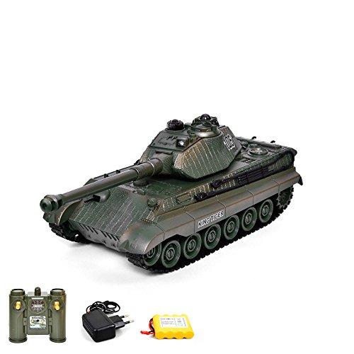 Profi-tanks (RC ferngesteuerter German Königstiger Panzer Tank Militär-Fahrzeug Modell Tiger II, Gefechtmodi, Schusssimulation, Sound und Beleuchtung)