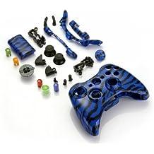 Funda Carcasa Reemplazo para Mando Inalámbrico Xbox 360 Color Azul