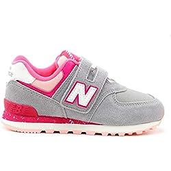 Zapatos Niña Casual Sneakers New Ballance Yiv7574 Gris 29