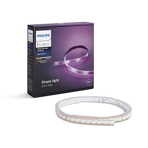 Philips Hue White and Color Ambiance - Lightstrip Plus, tira LED de 2