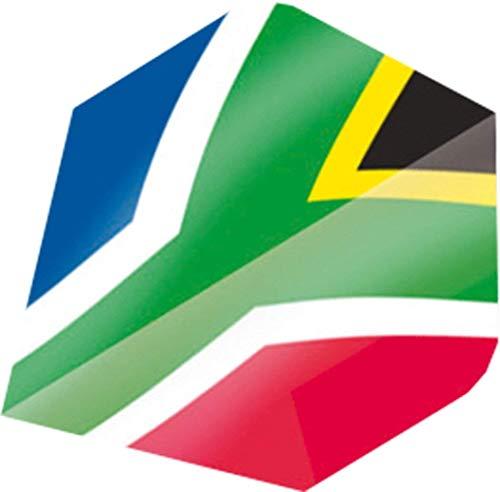 Unicorn Kern Maestro Plus Range Südafrika Flagge Form Strong Dart Flight Dutzend -
