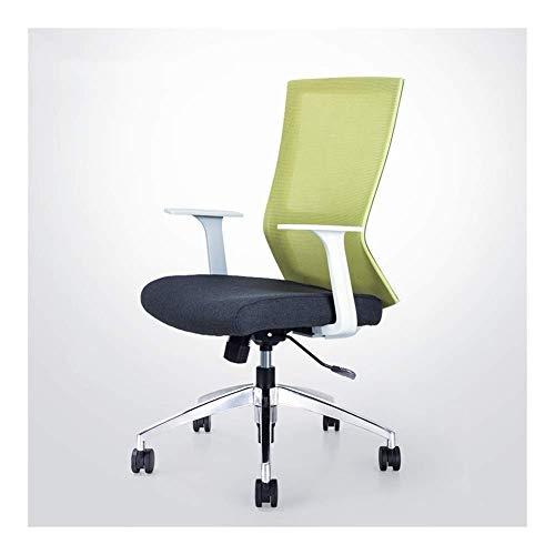 Stühle Schreibtischstühle Essentials Ergonomischer Bürobedarf Komfortables Heben und Computerfamilie Mesh + Stahlfüße (Color : Green)