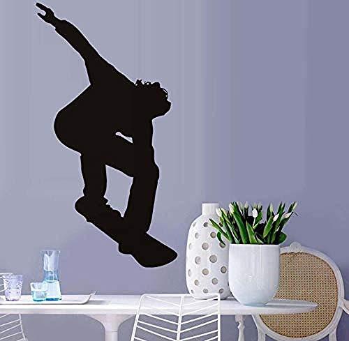 Muster Wandaufkleber Eislaufen Wandtattoo Skate Player Aufkleber Vinyl Transfer Skateboard Wandbild Selbstklebende Kunst Decals Für Jungen Room Home Dec81X43Cm -