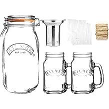 Kilner Cold Brew Coffee Set includes 2 handled Jars