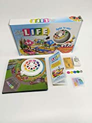 Game Life Travel Turntable, Card Life English Monopoly Table Games Toys, Suitable for 8 Years Old and Above Ta
