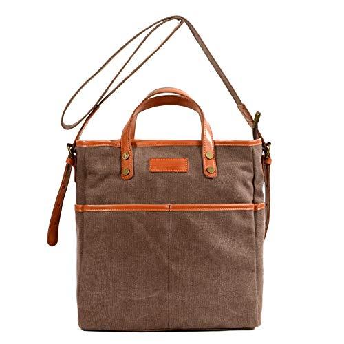 HKANG® Schulter Messenger Bag Segeltuch Damentasche Retro Männer und Frauen Tragbar Tote Literarische Tasche,Gold