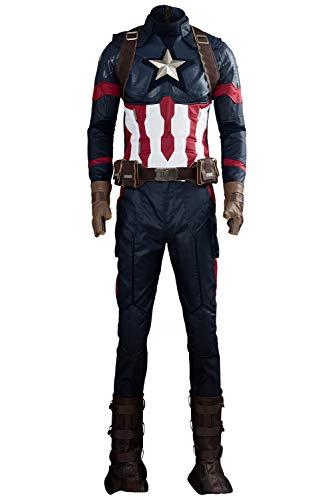 Steve Kostüm Rogers - Karnestore Avengers 4: Endgame Steve Rogers Captain America Cosplay Kostüm Herren XXXL