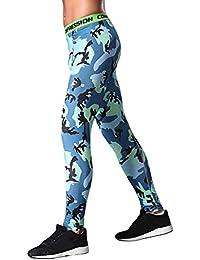 8c68f6cf4d9e Topgrowth Pantaloni Mimetici Uomo Sport Palestra Esercizio collant Casuele  Fitness Elastico Leggings