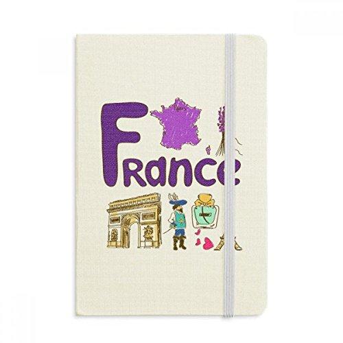 DIYthinker Frankreich nationalen Symbol Zeichen Muster Notebook Stoff Hard Cover Klassisches Journal Tagebuch A5 A5 (144 X 210mm) Mehrfarbig