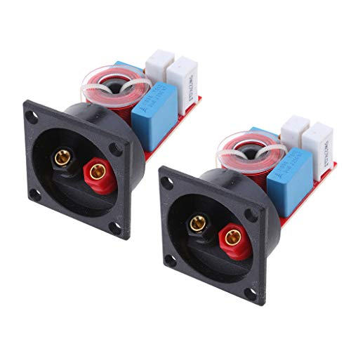 perfk 2pcs / Set 80W 2 Weg Audio Filter Lautsprecher Crossover High/Low Frequenz Teiler Bass Board