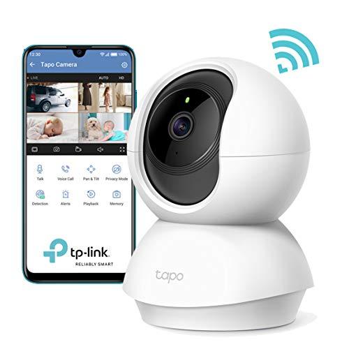 TP-Link Caméra Surveillance WiFi, Tapo camera ip 1080P sans Fil avec Vision Nocturne Détection de...