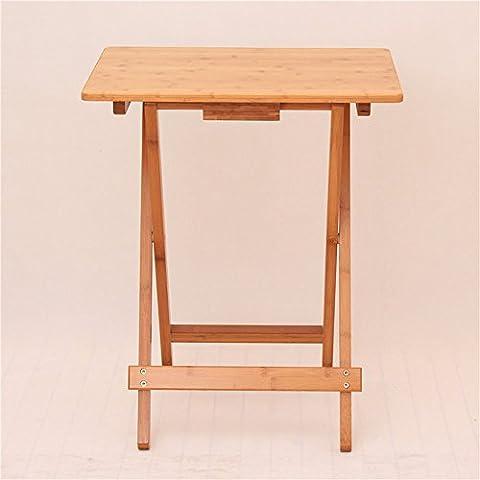 einstellbar Klapptische Square Tisch Einfacher kleiner Tisch Tragbarer Tisch Laptop Schreibtisch Outdoor Massivholz Tisch (Optionale Größe) Kann gedreht werden ( größe : 50*36.5*68cm (Büro Platz Klapptisch)