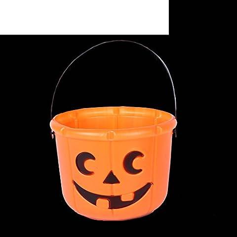 Calabaza de Halloween/Olla de calabaza de Halloween/ linterna luminosa/calabaza cubo/ Bolsa regalo-E