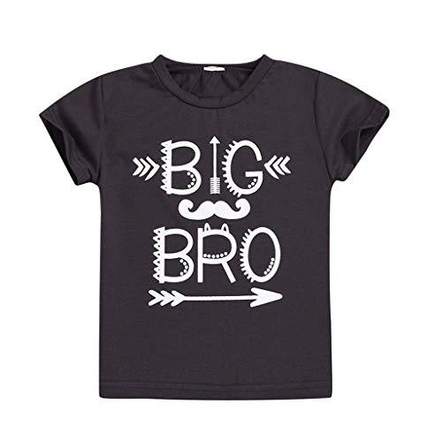 Yanhoo-Kinder Baby Top, Kinder Jungen Kleinkind Kurzarm Slip Gedruckt T-Shirt Tops Kleidung Kinder Kurzarm Brief Pfeil Print Top T-Shirt Brüder Big bro