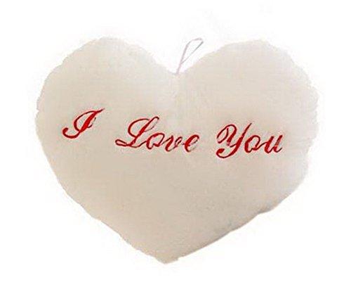 Koala Superstore Le Cadeau Romantique de Valentin d'oreiller de Jouets de Peluche Lumineuse pour l'amant, Blanc