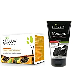 OXYGLOW PAPAYA BLEACH AND CHARCOAL FACE WASH