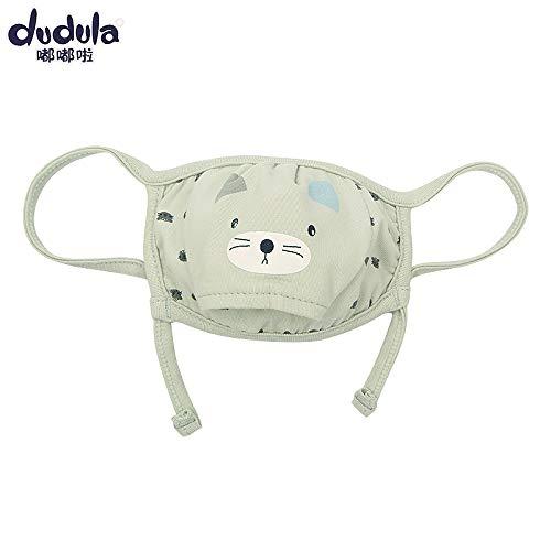 (JHYMASK 2018 Winterstil Baumwollmaske für Kinder - Outdoor-Atemschutzmaske für Kleinkinder - Männliches und weibliches Baby aus der Staubmaske 0-4 Jahre alt, Han Green)