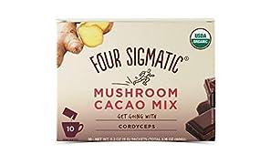 Four Sigmatic FSF Mushroom Hot Cacao Mix Cordyceps Sachets, 30 g