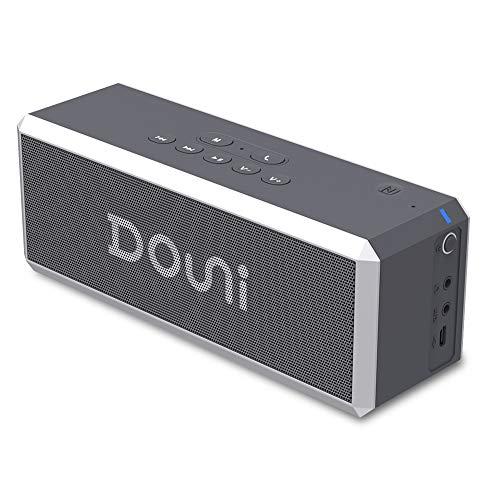 Tragbarer Bluetooth-Lautsprecher Stereo-Sound mit Reichem Bass, ZealSound Wireless Bluetooth-Lautsprecher 20W 360 ° Sound mit LED-Wärmesensor Hintergrundbeleuchtung NFC-Lautsprecher