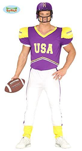 Für Erwachsene Kostüm Spieler Football - Quarterback Football Spieler - Kostüm für Herren Karneval Fasching Sport Gr. M-L, Größe:M