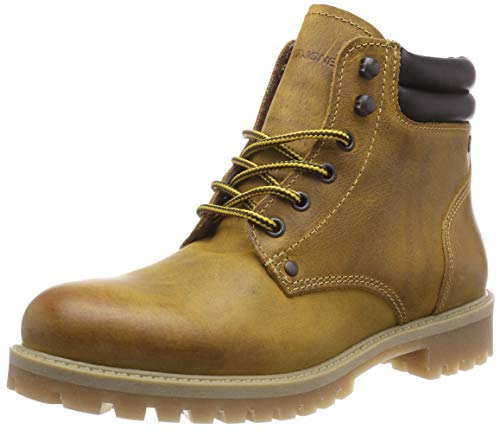 Jack & Jones Jfwstoke Leather Boot Honey, Stivali da Motociclista Uomo, Giallo, 44 EU