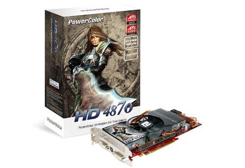 PowerColor ATI Radeon HD4870 Grafikkarte (PCI-e, 512MB GDDR5 Speicher, Dual DVI, TV-Out, 1 GPU) Lite Retail - Powercolor Radeon Hd Pcs