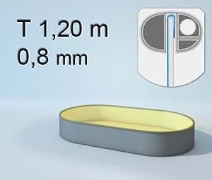 Schwimmbecken Innenhülle oval - 120 cm x 0,8 mm - PVC sand 460 x 916 cm