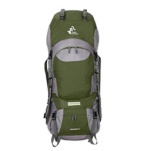 HWJDK 60L Wasserdichte Outdoor Sport Wandern Trekking Camping Reisen Rucksack Pack Bergsteigen Klettern Rucksack army green