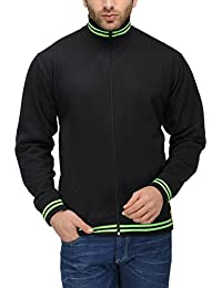 Scott International AWG Men's Premium Rich Cotton High Neck Hoodie Sweatshirt - Black