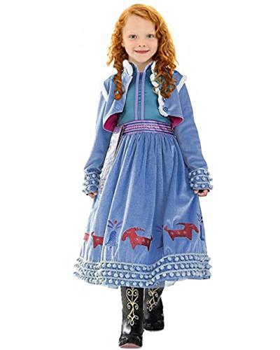 CIRAD Prinzessin ELSA Anna Kostüm Kinder Glanz Kleid Mädchen Weihnachten Verkleidung Karneval Party Halloween Fest Kostüm (110 (4 - 5 Jahre))