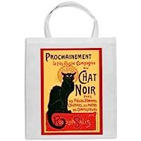 Borsa shopper locandina Le Chat Noir, Parigi, Paris, Montmartre! Idea per confezionare regali di Natale o compleanno, ideale per lo shopping!