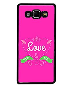 PrintVisa Designer Back Case Cover for Samsung Galaxy A8 (2015) :: Samsung Galaxy A8 Duos (2015) :: Samsung Galaxy A8 A800F A800Y (You And Me Love Cute Pink Design)