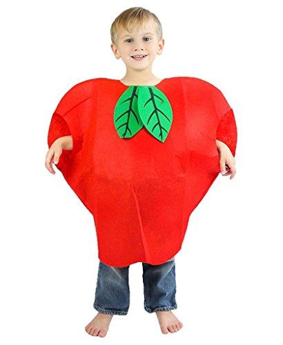 Petitebelle Halloween Weihnachten Obst Gemüse Unisex-Kostüm-Partei-Kleid-Kleidung Einheitsgröße Apfel (Apple-halloween-kostüme)