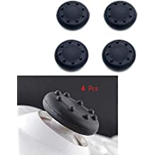 SpiderJuice® 4pcs Black Dotted Silicone Analog Joystick Protecting Thumb Case Cover Feels Firm Good Grip Better Gaming Experience & Long Shelf Life Compatible with PS3/PS4/Xbox One/Xbox 360 Controller